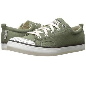Keen Green Canvas Elsa Sneakers Lace Shoes 6